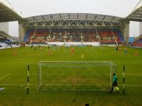 The view from the away end