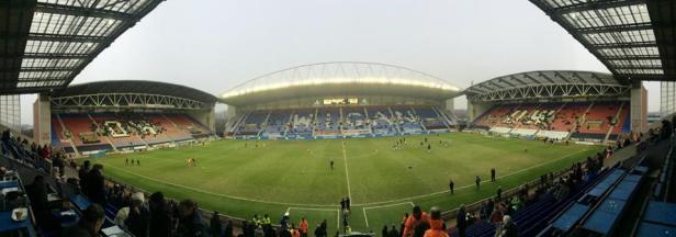 Panoramic view of the DW Stadium