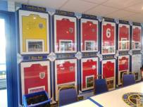 A collection of autographed 1966 World Cup shirts