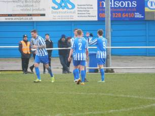 Staveley celebrate the opening goal