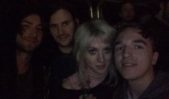 with Black Honey before their set