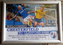 One of the nearer away days for the Spireites