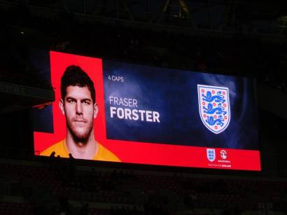 Fraser Forster starts in goal due to injuries for both Joe Hart and Jack Butland