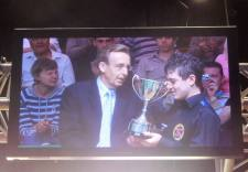 Mitchell Mann winning Junior Pot Black at the Crucible