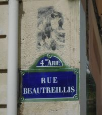 Rue Beautreillis, the street where Jim Morrison spent his final days