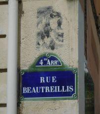 Rue Beautreillis, the street where Jim Morrison spent his final days