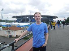 Outside the Stade de France