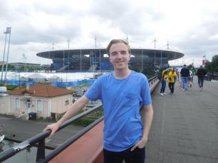 Outside the Stade de France