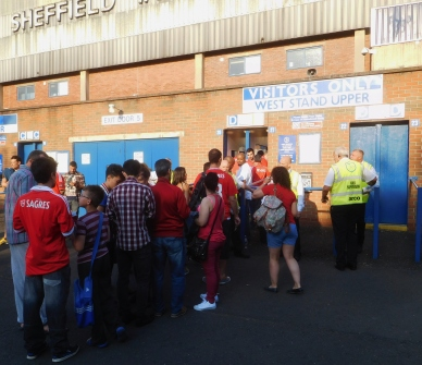 The Benfica fans outside Hillsborough