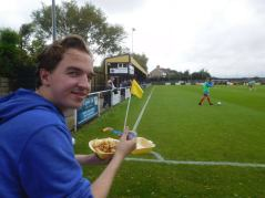 Enjoying some chips & gravy before kick off!
