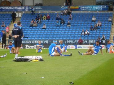Chris Morgan overlooks the warm-up