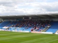 The away fans