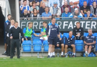 Wilson and Morgan on the Chesterfield bench