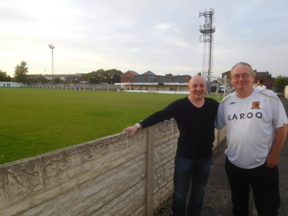 My Dad Mark, at his 95th ground, and Bill...making his 38th visit to Armthorpe!