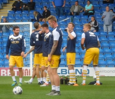 The Millwall players warm up