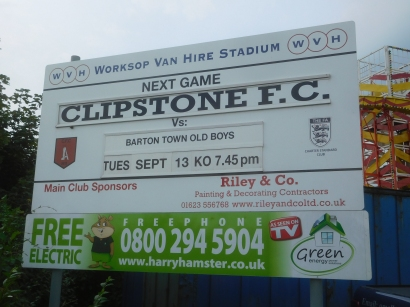 Clipstone v Barton Town Old Boys
