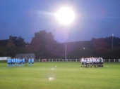 A minute's silence for Shaw Lane player Daniel Wilkinson, who passed away yesterday