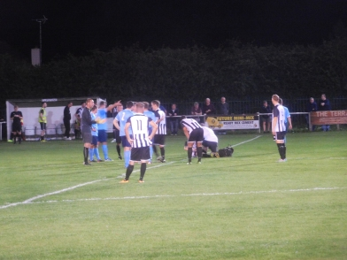 A red card for Barton shortly before the half hour