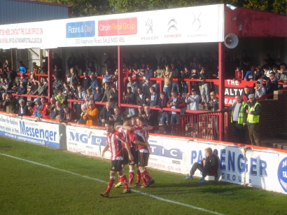 But Altrincham turn it around in the second half